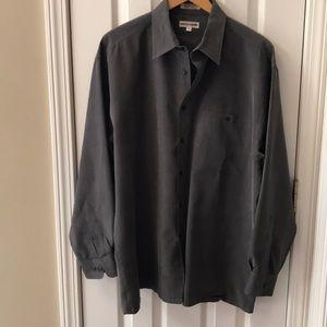 Grey with tiny plaid Pierre Cardin shirt